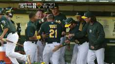 Colon collars eighth straight win as A's cruise
