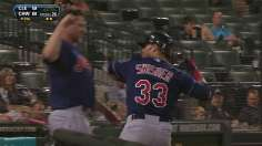 Swisher completes Tribe's ninth-inning rally in Game 2