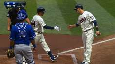 Plouffe's big day leads Gibson to win in debut