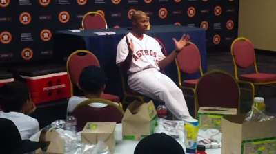 Kids visit Astros as part of Porter's SELF Foundation