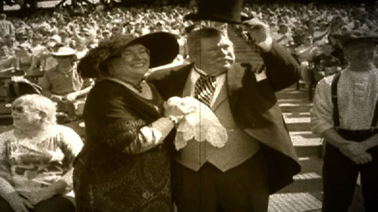 President Taft's first pitch