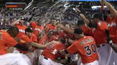 Mathis lifts Marlins with walk-off grand slam