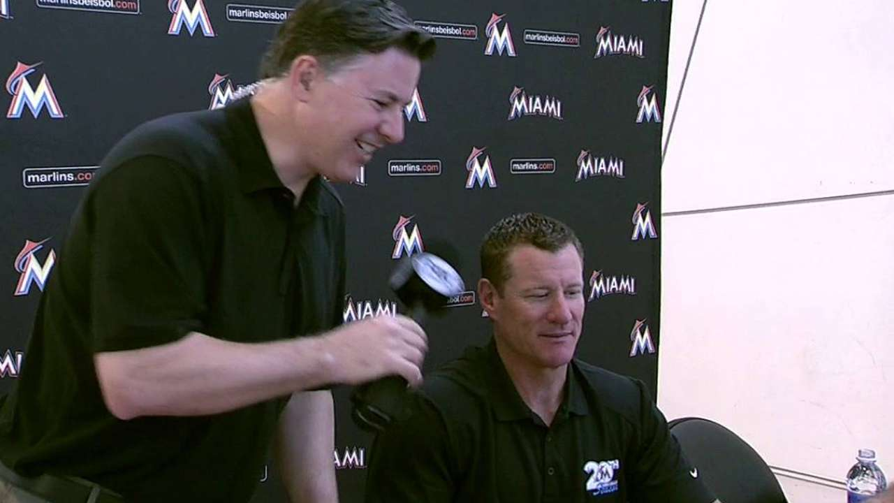Marlins assistant Conine scaling new heights