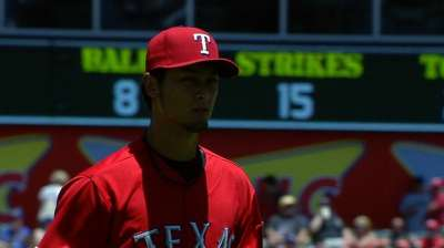 Darvish hits DL with strained trapezius muscle