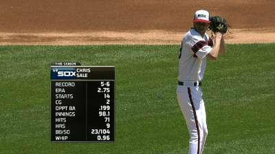 Sale's latest gem receives no support from Sox