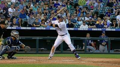 Cuddyer extends hitting streak to 27 in final at-bat