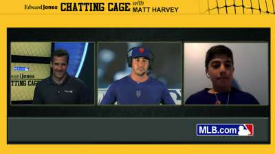 Harvey takes fastball questions in Chatting Cage