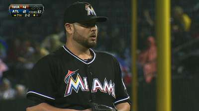 Nolasco ignores rumors, hits 1,000 K's in win