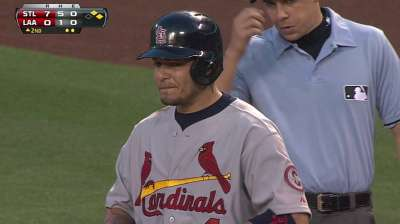 Molina gets break from slump, rests knee