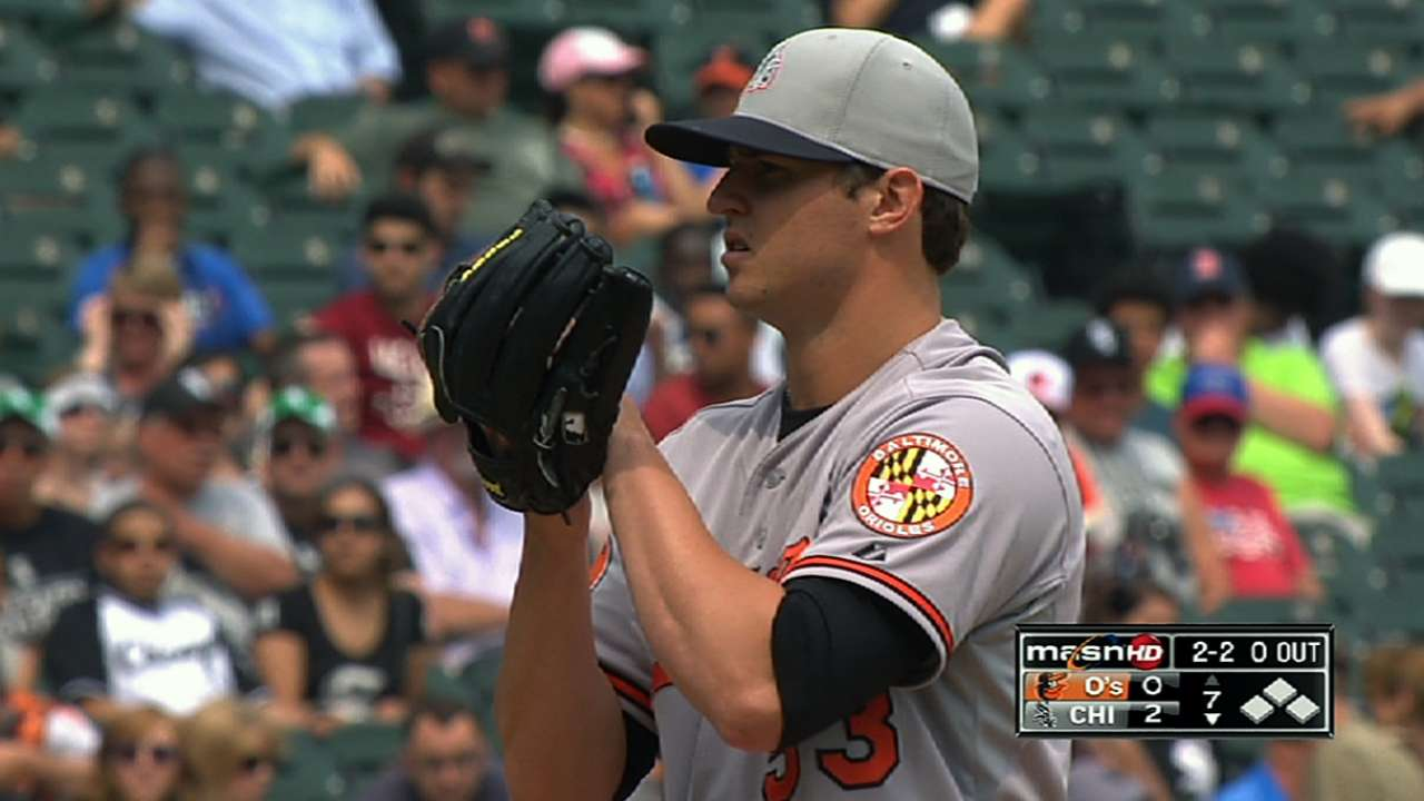 Z. Britton fine after being struck on right wrist