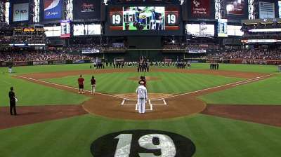 D-backs honor fallen firefighters before game