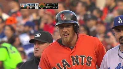 Cain, Giants come home to rout by Dodgers