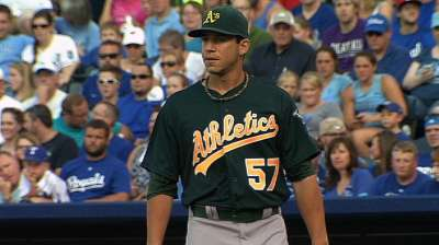 Milone sets winning tone for A's against KC