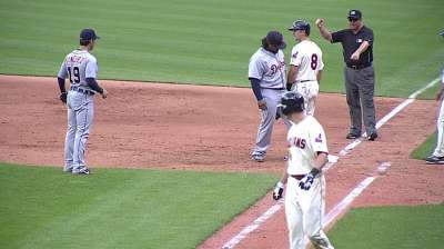 Leyland proud of Prince's heads-up double play