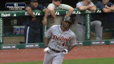 Torii single shy of cycle in Tigers' rout of Tribe