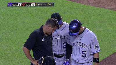 CarGo sits out Tuesday with sprained finger