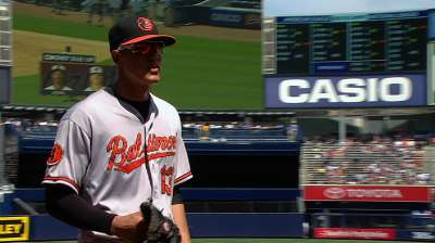Machado's gem, Jones' homer power O's in NY
