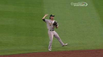 Green makes Major League debut for A's