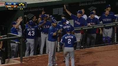 Rangers logran reaccionar para superar a Orioles