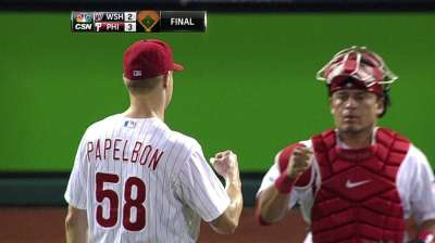 Papelbon grinding through rocky stretch