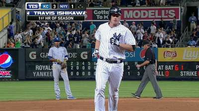 Big hit eludes Yanks late in loss to Royals