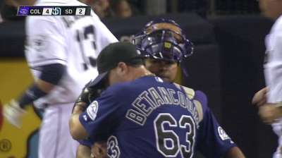 Betancourt activated, will serve as closer