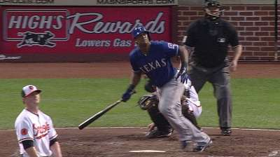 Two key blasts from Beltre vault Rangers past O's