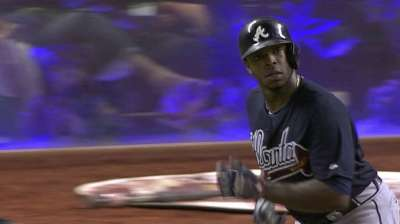 Uptons break out to boost Teheran, Braves