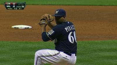 Peralta throws three-hit shutout in Braun's return
