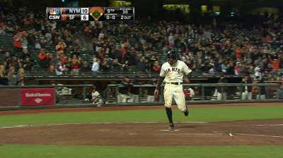 Giants bring back Peguero, Noonan