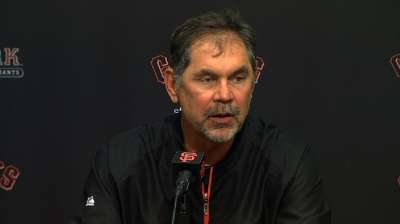 Bochy reiterates Cain's health is fine