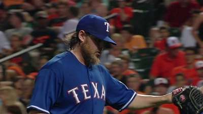 Flush with arms, Rangers option Burns, Ortiz
