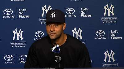 Jeter didn't feel hurried, expects to play Friday