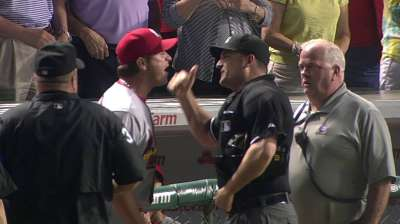 Matheny upset over ump showing up Cards