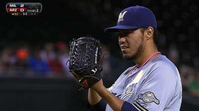 Brewers unable to make early homers stand up