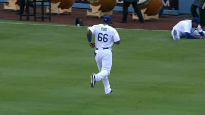Puig tries to play through hip pain, but exits after four