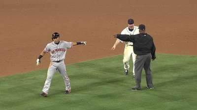 Black ejected arguing interference call