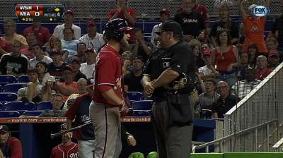 Harper ejected after arguing called third strike