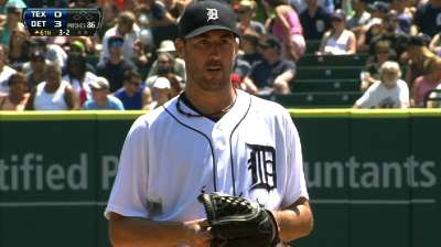 Verlander sparkles in flirting with no-hitter