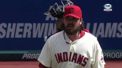 Perez locking things down in Indians' bullpen