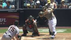 Padres pound four homers to take finale from Giants