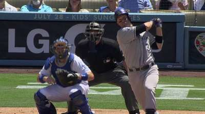 Cuddyer homers, drives in three as Rox top Dodgers