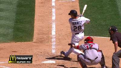Ibanez's bat cooling off after hot streak