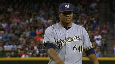 Peralta leads Brewers into break on high note