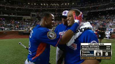 Cespedes beats Harper to claim Derby title