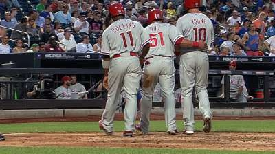 Phils pounce with seven-run third in rout of Mets