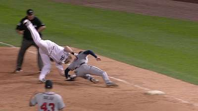 Freeman fine after collision with Dunn