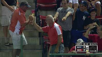 After dropping foul ball, Sox fan gets another chance