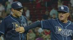 Moore's first shutout has Rays knocking on East door