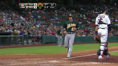 A's option Green to Triple-A after slow start